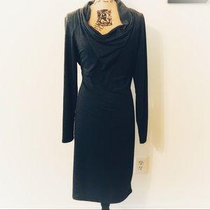 Jennifer Lopez Cowl Neck Dress